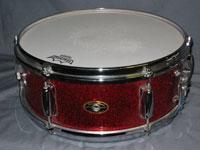 Slingerland: 1962 Red Sparkle 5.5 x 14